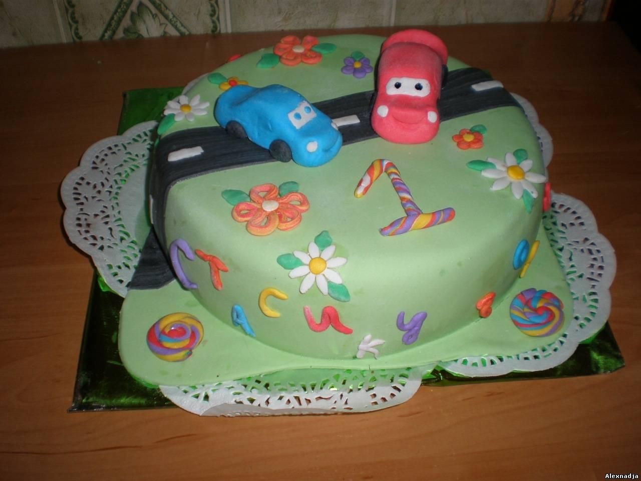 Торт машина своими руками фото из мастики
